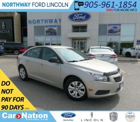 Used 2014 Chevrolet Cruze 1LS | KEYLESS ENTRY | XM RADIO | AUTO HEADLIGHTS | for sale in Brantford, ON