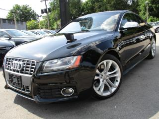 Used 2012 Audi S5 S5 6 SPEED TRANSMISSION RED LEATHER INT 120KMS for sale in Burlington, ON