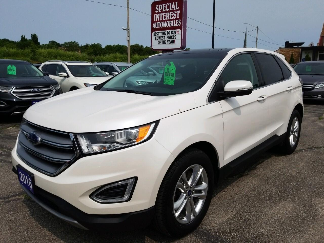 Used 2016 Ford Edge Sel Navigation Awd Sunroof For Sale In