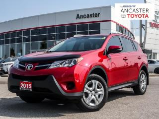 Used 2015 Toyota RAV4 LE - 1 OWNER|LOW KMS|BLUETOOTH|CAMERA for sale in Ancaster, ON