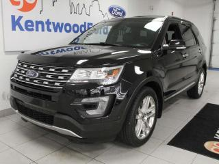 Used 2017 Ford Explorer Limited 4WD with NAV, sunroof, heated/cooled power leather seats, heated rear seats, rear climate control, power liftgate, for sale in Edmonton, AB
