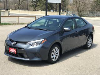 Used 2015 Toyota Corolla LE | NO ACCIDENT | LOW MILEAGE for sale in Cambridge, ON