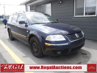 Used 2002 Volkswagen PASSAT GLS 4D WAGON 4MOTION for sale in Calgary, AB