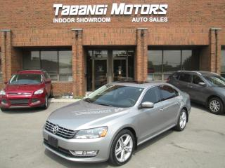 Used 2013 Volkswagen Passat TDI | NO ACCIDENTS | HIGHLINE | NAVIGATION | LEATHER | SUNRO for sale in Mississauga, ON