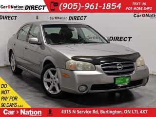 Used 2002 Nissan Maxima SE| AS-TRADED| LEATHER| SUNROOF| for sale in Burlington, ON