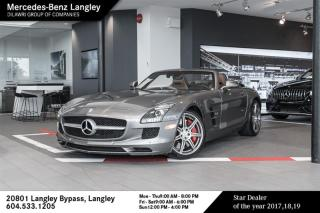 Used 2012 Mercedes-Benz SLS AMG Roadster Local BC vehicle, Exceptionally low kms, please contact us for further details for sale in Langley, BC