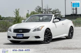 Used 2009 Infiniti G37 Sport Convertible Hard Top Clean Carfax Certified for sale in Bolton, ON