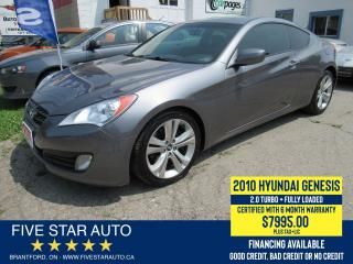 Used 2010 Hyundai Genesis Coupe 2.0T *1 Owner* Certified w/ 6 Month Warranty for sale in Brantford, ON