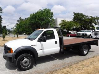 Used 2006 Ford F-450 SD Diesel Flat Deck 11 foot Regular Cab Dually  2WD for sale in Burnaby, BC