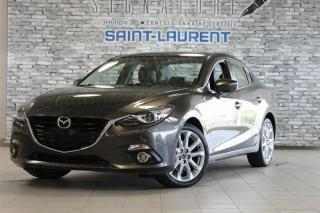 Used 2016 Mazda MAZDA3 GT*CUIR*TOIT*CAM* for sale in St-Laurent, QC