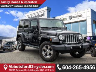 Used 2016 Jeep Wrangler Unlimited Sahara *ACCIDENT FREE* for sale in Abbotsford, BC