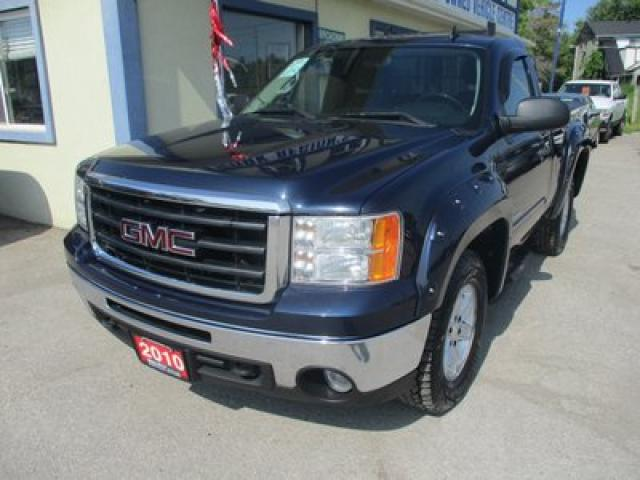 "2010 GMC Sierra 1500 WORK READY SLE MODEL 3 PASSENGER 4.8L - VORTEC.. 4X4.. REGULAR CAB.. 6'6"" BOX.. TRAILER BRAKE.. CD/AUX INPUT.."