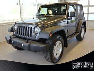Used 2017 Jeep Wrangler Sport + 4X4 + CLIMATISATION + MAGS for sale in Ste-Julie, QC