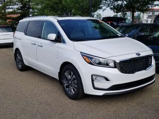 Used 2020 Kia Sedona SX; 8PASS, BLUETOOTH, ADVANCED SAFTEY, LEATHER, BACKUP CAM, HEATED SEATS, SUNROOF AND MORE for sale in Edmonton, AB
