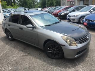 Used 2006 Infiniti G35 LUXURY/ AUTO/ LEATHER/ SUNROOF/ ALLOYS/ RUNS WELL! for sale in Scarborough, ON