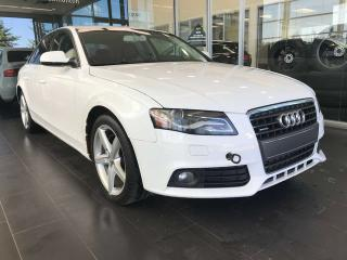 Used 2012 Audi A4 2.0T PREMIUM AWD, POWER HEATED LEATHER SEATS, SAT RADIO, BLUETOOTH for sale in Edmonton, AB