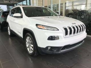 Used 2016 Jeep Cherokee LIMITED, ACCIDENT FREE, POWER HEATED LEATHER SEATS, SKYROOF, NAVI for sale in Edmonton, AB