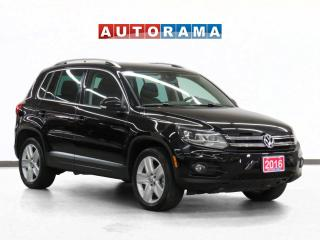 Used 2016 Volkswagen Tiguan 4WD Navigation Leather Sunroof Backup Cam for sale in Toronto, ON
