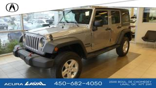 Used 2016 Jeep Wrangler UNLIMITED SPORT for sale in Laval, QC