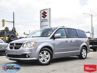 Used 2014 Dodge Grand Caravan Crew ~Full Stow 'N Go ~Nav ~Dual DVD ~Leather for sale in Barrie, ON