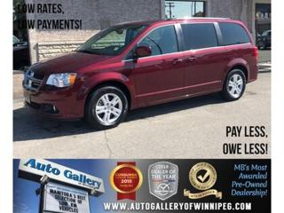 Used 2018 Dodge Grand Caravan Crew Plus *Navi/B.tooth/Back.Cam/Power Doors for sale in Winnipeg, MB