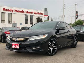 Used 2017 Honda Accord Coupe Touring - Navigation - Leather - Lane Watch - for sale in Mississauga, ON