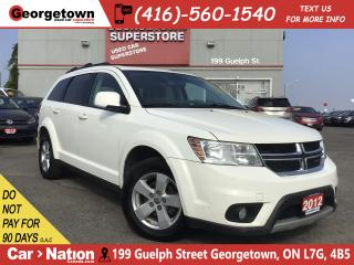 Used 2012 Dodge Journey SXT | ALLOYS | FOGS | PUSH START | POWER GROUP for sale in Georgetown, ON