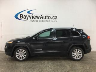 Used 2016 Jeep Cherokee Limited - HTD LTHR! NAV! STOP/START ENGINE! REMOTE START! + MUCH MORE! for sale in Belleville, ON