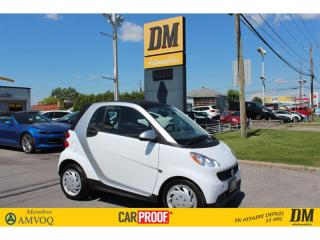 Used 2015 Smart fortwo PURE NAV SIÈGES CH for sale in Salaberry-de-Valleyfield, QC