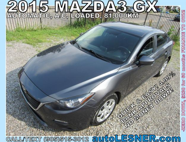 2015 Mazda MAZDA3 -ZERO DOWN, $230 for 60 months FINANCE TO OWN!