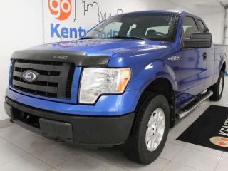Used 2011 Ford F-150 STX 4x4 supercab in brilliant bright blue for sale in Edmonton, AB