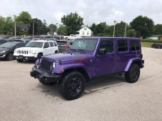 Used 2016 Jeep Wrangler Unlimited Sahara | Leather Trimmed Seats | Dual Top | Naviga for sale in Mitchell, ON