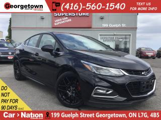 Used 2017 Chevrolet Cruze RS | BACK UP CAM | RTX RIMS |6 SPEED|TOUCH SCREEN for sale in Georgetown, ON