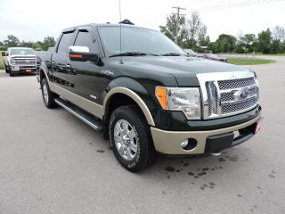 Used 2012 Ford F-150 Lariat. Leather. Sunroof. Navigation. Only 57000 k for sale in Gorrie, ON