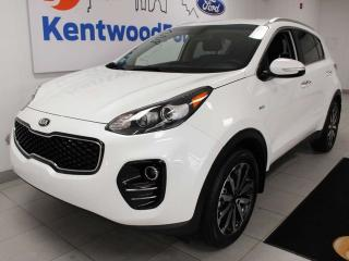 Used 2019 Kia Sportage EX AWD with power heated seats, heated steering wheel, push start/stop, and back up cam for sale in Edmonton, AB