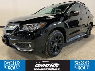 Used 2017 Acura RDX Elite CLEAN CARFAX, REMOTE START, HEATED AND COOLED LEATHER SEATING for sale in Calgary, AB
