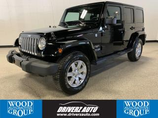 Used 2018 Jeep Wrangler JK Unlimited Sahara REMOTE START, CUSTOM LEATHER SEATS, NAVIGATION for sale in Calgary, AB