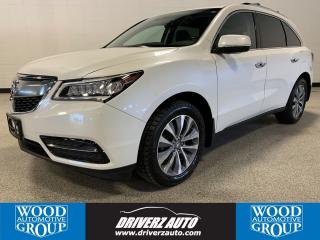 Used 2016 Acura MDX Navigation Package 7 PASSENGER NAV PACKAGE, CLEAN CARFAX, BLIND SPOT MONITORING for sale in Calgary, AB