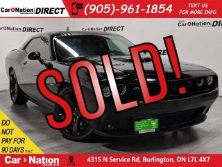 Used 2016 Dodge Challenger R/T Shaker| 6-SPEED MANUAL| LOCAL TRADE| for sale in Burlington, ON