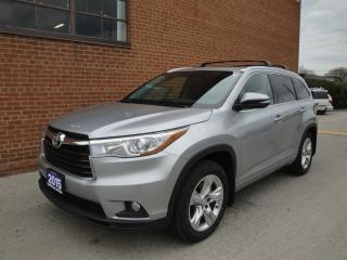 Used 2015 Toyota Highlander LIMITED, 7 PASS /NO ACCIDENTS/SUNROOF/NAVI/CAM for sale in Oakville, ON