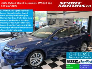 Used 2017 Acura ILX Premium PKG+Camera+Leather+Blind Spot+Lane Assist for sale in London, ON