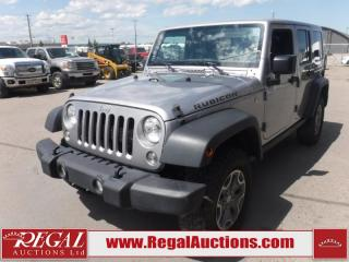 Used 2017 Jeep Wrangler Unlimited Rubicon 4D Utility 4WD 3.6L for sale in Calgary, AB