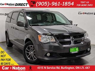 Used 2017 Dodge Grand Caravan Premium Plus| LEATHER-TRIMMED SEATS| DVD| for sale in Burlington, ON