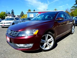 Used 2014 Volkswagen Passat Comfortline TDI DSG Leather Sunroof Bluetooth Certified for sale in Guelph, ON