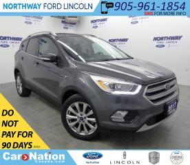 Used 2017 Ford Escape Titanium | AWD | NAV | HTD LEATHER | PANOROOF | for sale in Brantford, ON