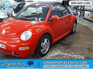 Used 2004 Volkswagen Beetle Cabriolet CABRIO GLS MANUELLE BAS KILO for sale in Rivière-Du-Loup, QC
