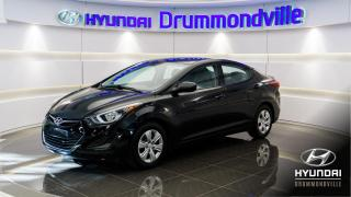 Used 2016 Hyundai Elantra L PLUS + GARANTIE + A/C + GROUPE ÉLEC. ! for sale in Drummondville, QC