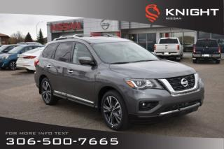 Used 2019 Nissan Pathfinder Platinum | Leather | Heated & Cooled Seats | Navigation | DVD Pkg | Bose System | for sale in Swift Current, SK