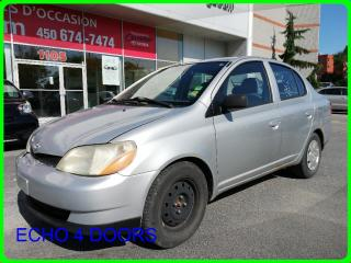 Used 2002 Toyota Echo Sedan for sale in Longueuil, QC