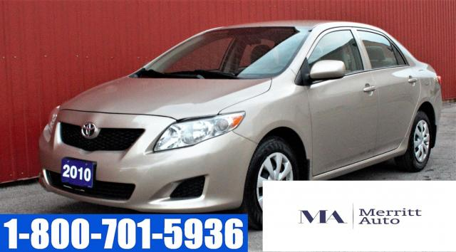 2010 Toyota Corolla CE| LOW KMS| CERTIFIED| 12MNTH WARRANTY INC